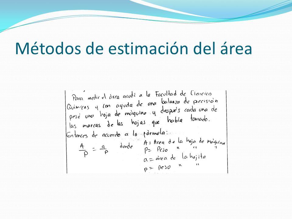 Métodos de estimación del área
