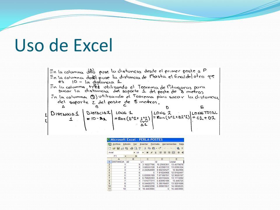 Uso de Excel