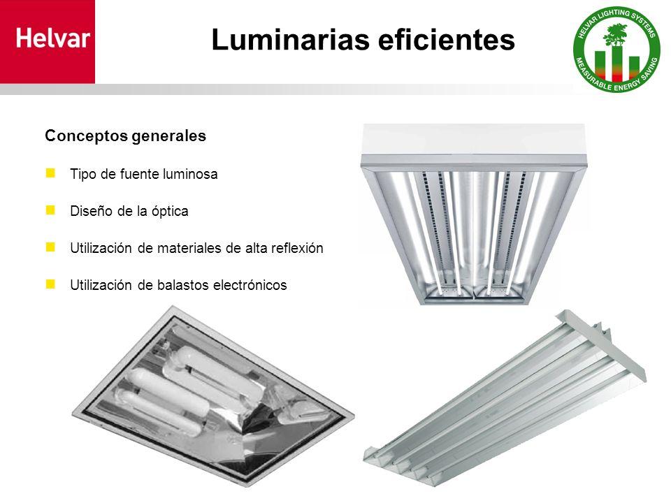 Luminarias eficientes