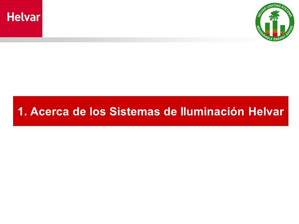1. Acerca de los Sistemas de Iluminación Helvar