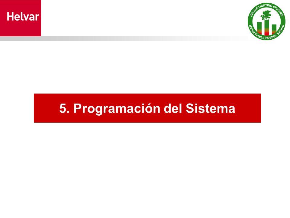 5. Programación del Sistema