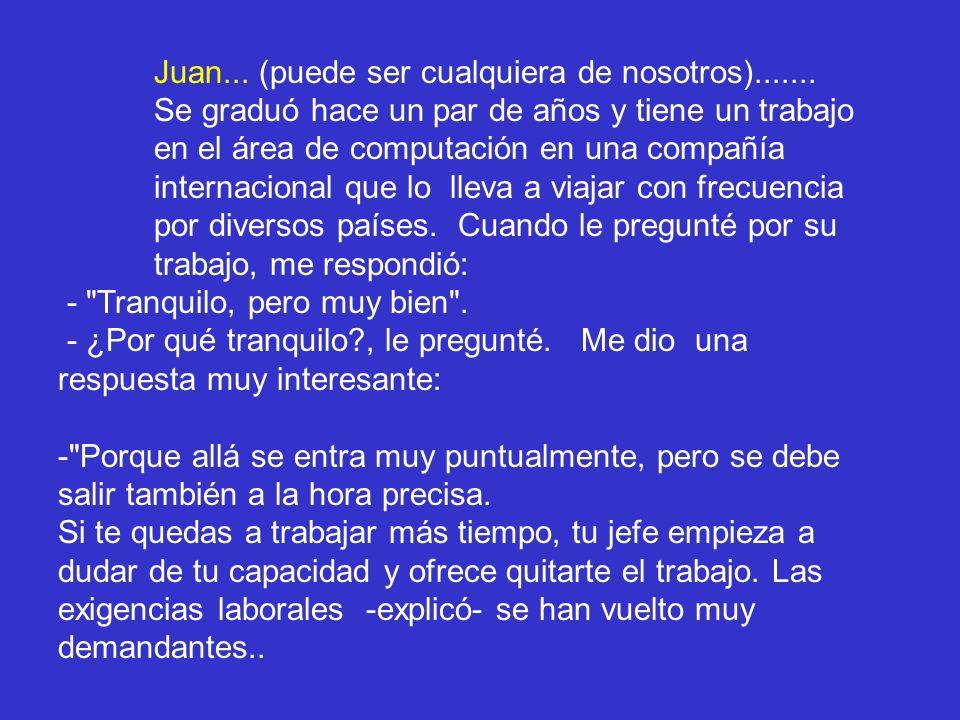 Juan... (puede ser cualquiera de nosotros).......