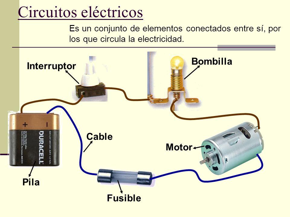 Circuitos eléctricos Bombilla Interruptor Cable Motor Pila Fusible