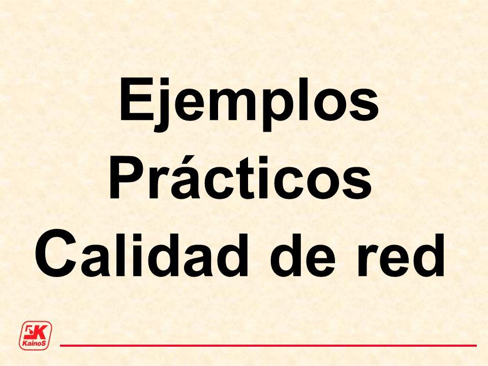 Ejemplos Prácticos Calidad de red