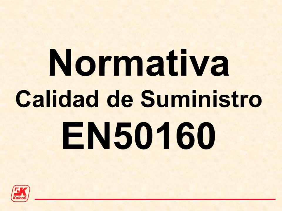 Normativa Calidad de Suministro EN50160