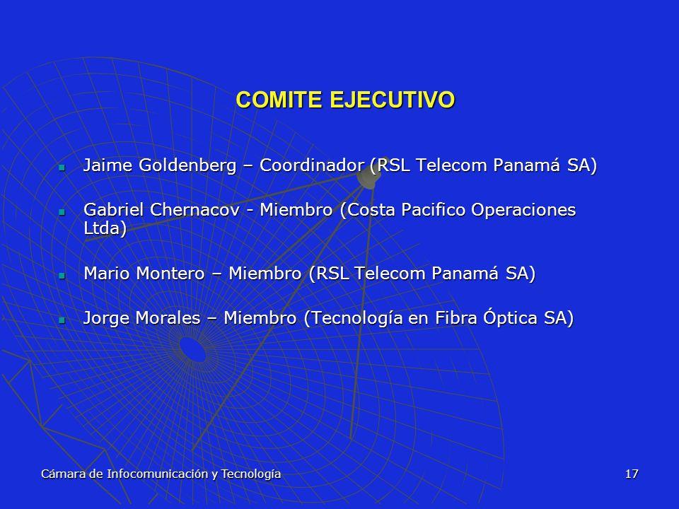 COMITE EJECUTIVO Jaime Goldenberg – Coordinador (RSL Telecom Panamá SA) Gabriel Chernacov - Miembro (Costa Pacifico Operaciones Ltda)