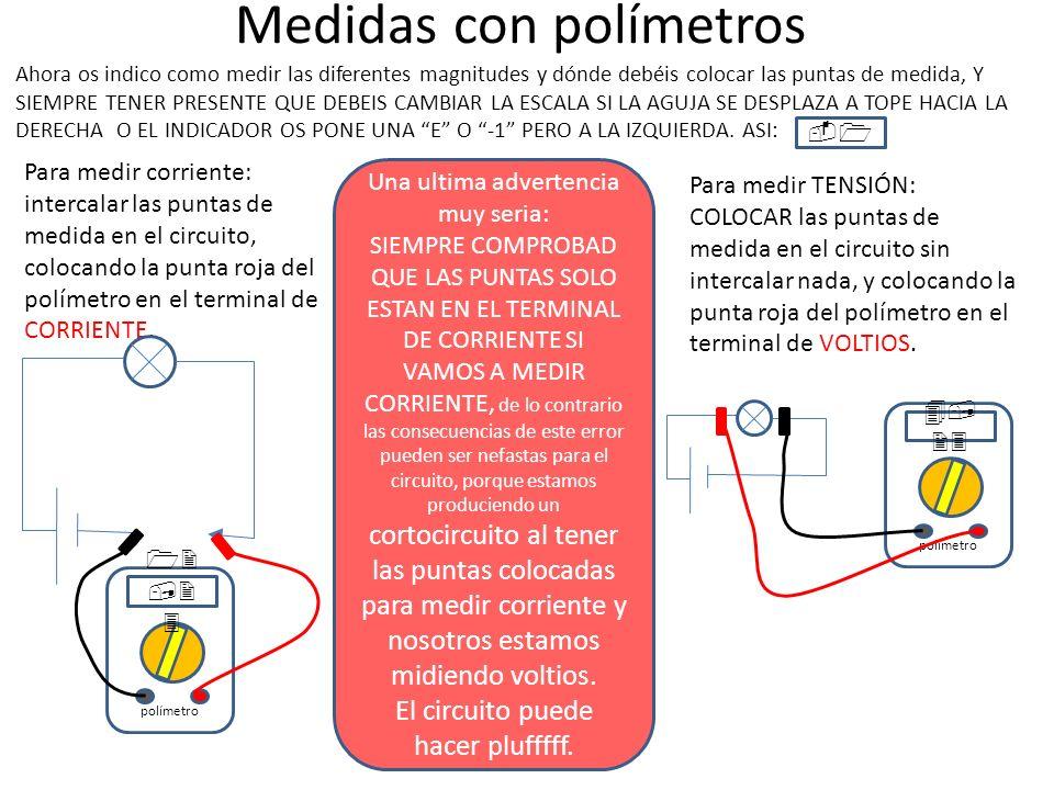 Medidas con polímetros