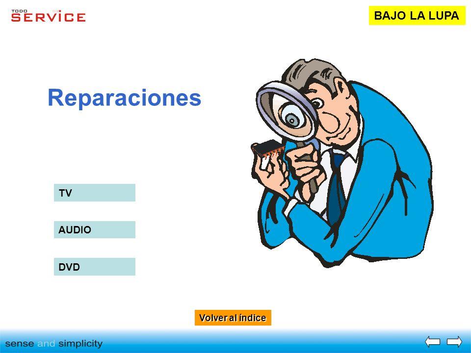 BAJO LA LUPA Reparaciones TV AUDIO DVD Volver al índice