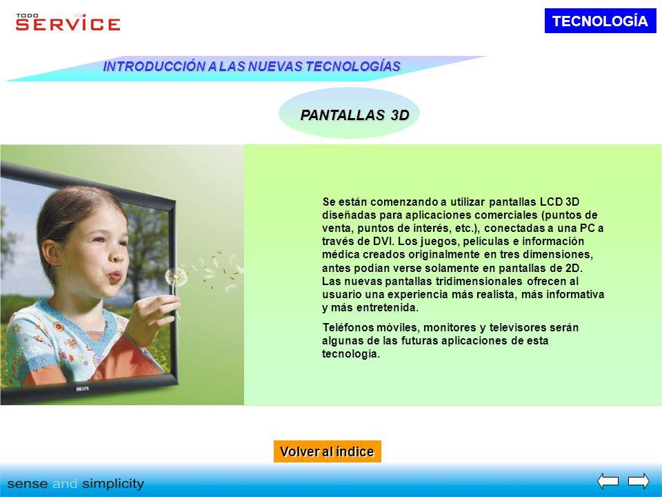 TECNOLOGÍA PANTALLAS 3D INTRODUCCIÓN A LAS NUEVAS TECNOLOGÍAS