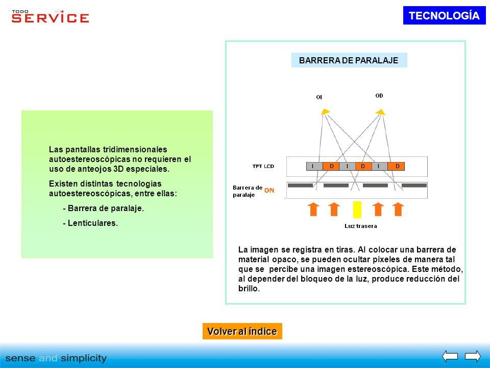 TECNOLOGÍA Volver al índice BARRERA DE PARALAJE