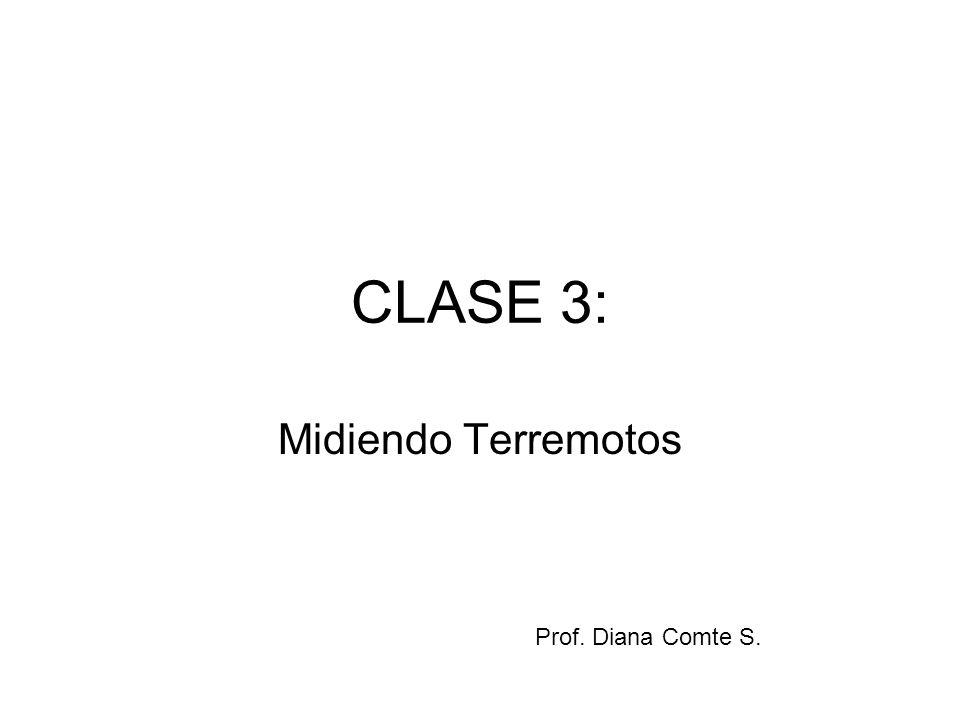 CLASE 3: Midiendo Terremotos Prof. Diana Comte S.