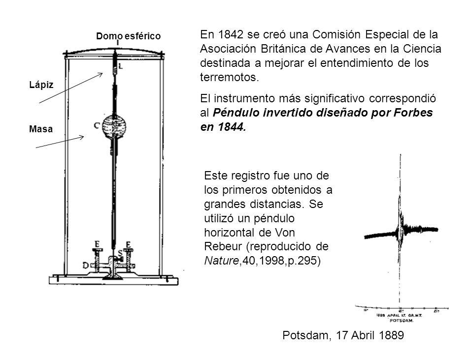 En 1842 se creó una Comisión Especial de la Asociación Británica de Avances en la Ciencia destinada a mejorar el entendimiento de los terremotos.