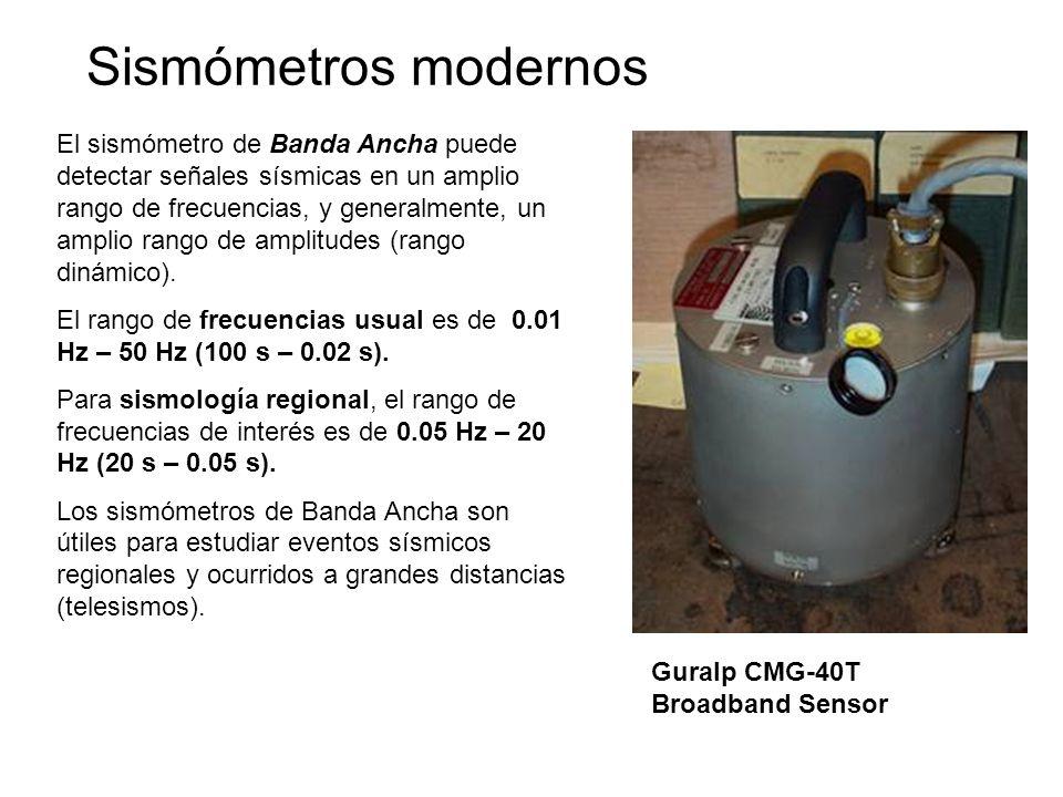 Sismómetros modernos