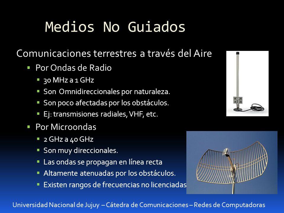 Medios No Guiados Comunicaciones terrestres a través del Aire