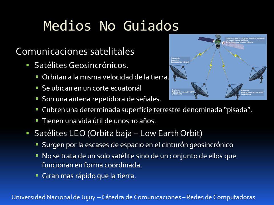 Medios No Guiados Comunicaciones satelitales Satélites Geosincrónicos.