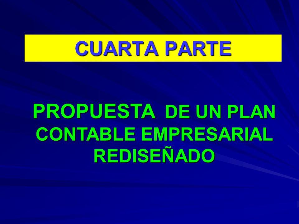 PROPUESTA DE UN PLAN CONTABLE EMPRESARIAL REDISEÑADO