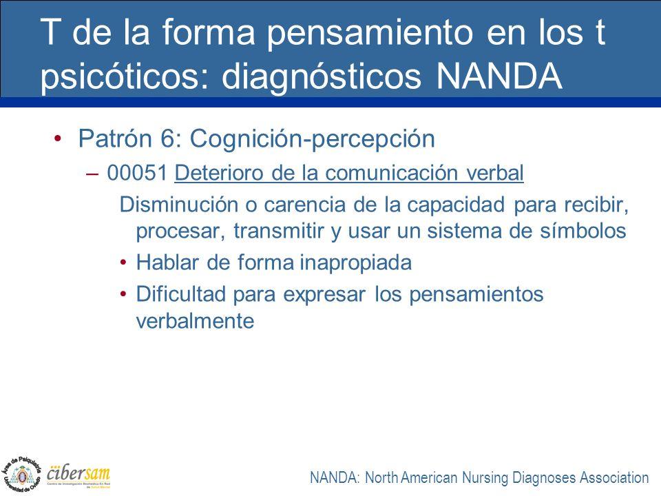T de la forma pensamiento en los t psicóticos: diagnósticos NANDA