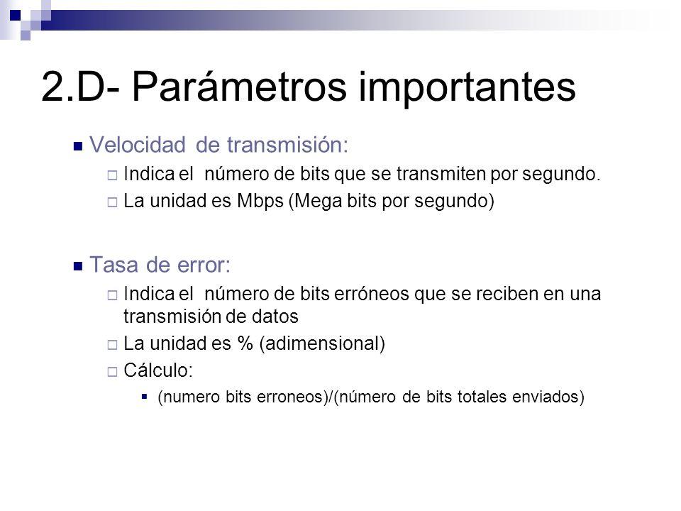 2.D- Parámetros importantes