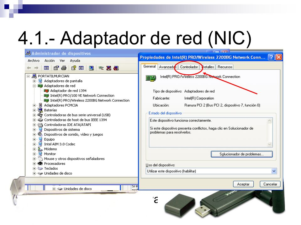 4.1.- Adaptador de red (NIC)