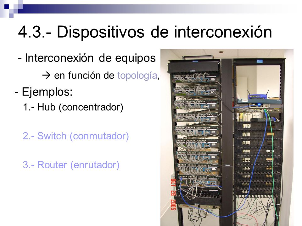 4.3.- Dispositivos de interconexión