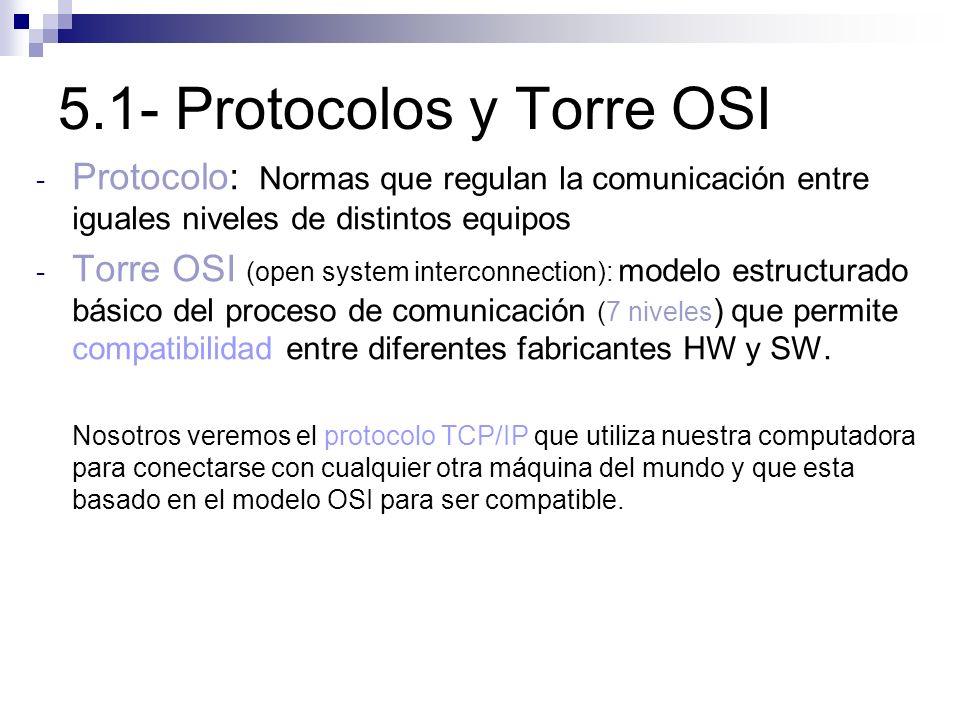 5.1- Protocolos y Torre OSI