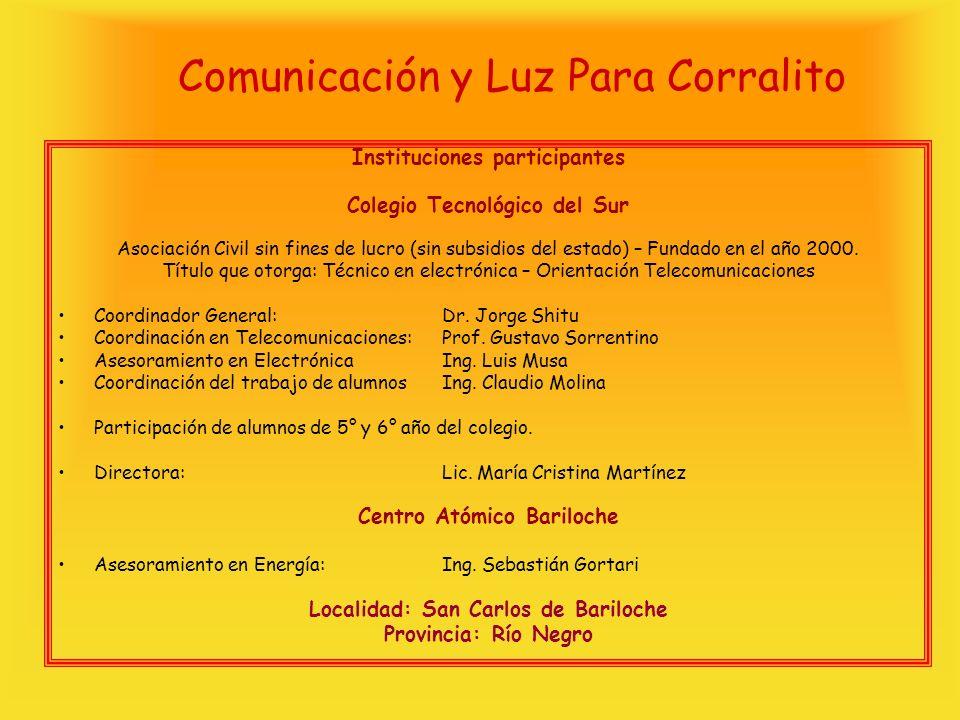 Comunicación y Luz Para Corralito