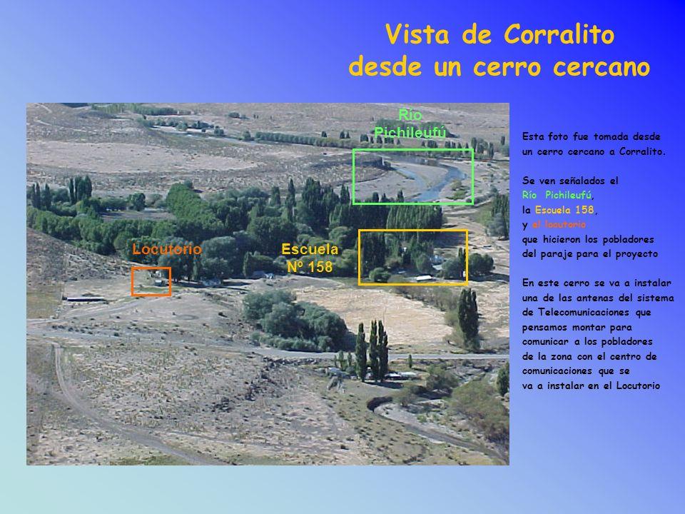 Vista de Corralito desde un cerro cercano