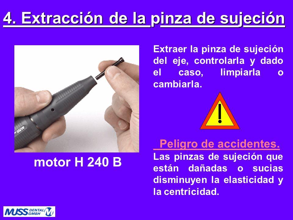 4. Extracción de la pinza de sujeción
