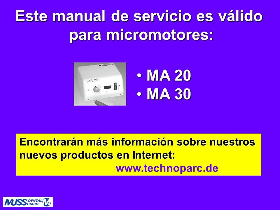 Este manual de servicio es válido