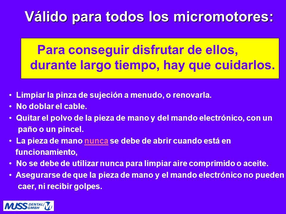Válido para todos los micromotores: