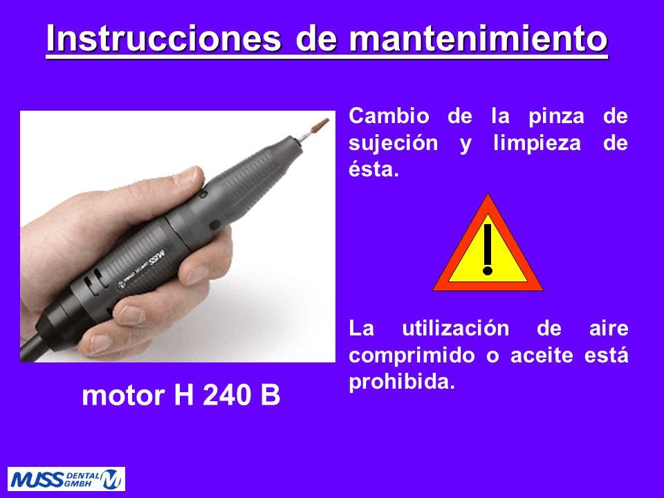 Instrucciones de mantenimiento
