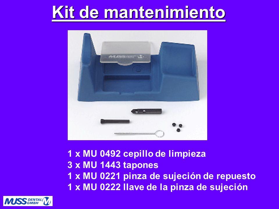 Kit de mantenimiento 1 x MU 0492 cepillo de limpieza