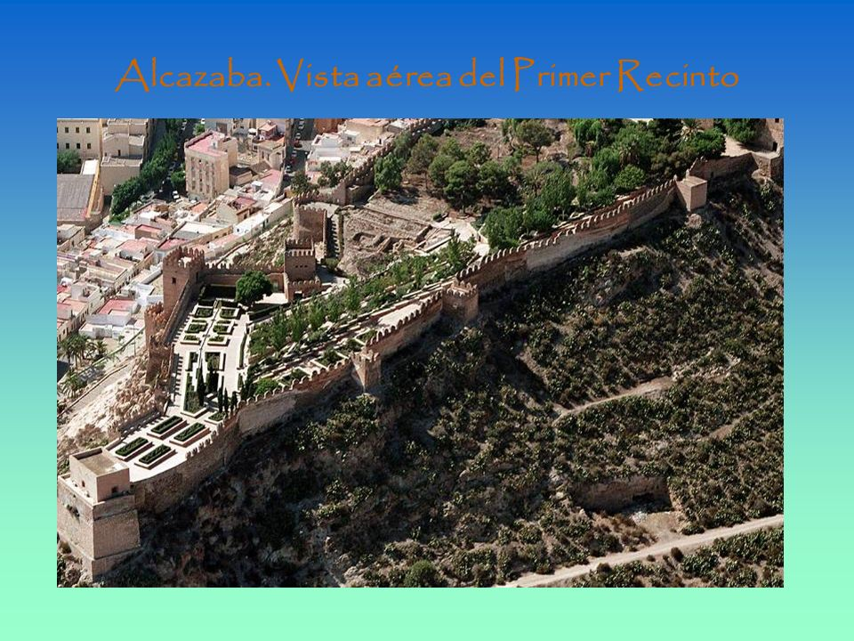 Alcazaba. Vista aérea del Primer Recinto