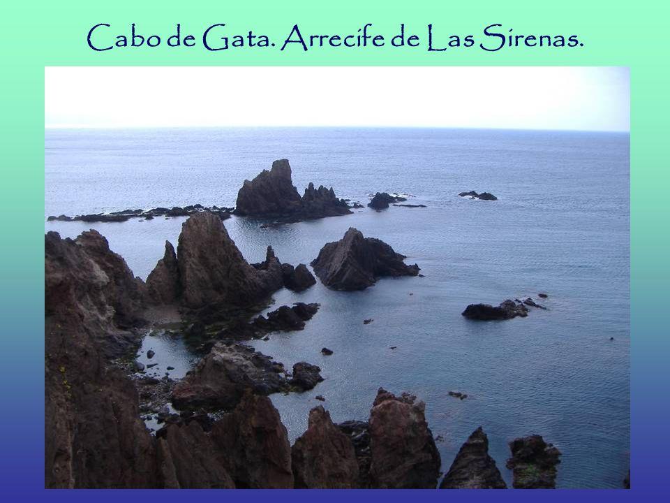 Cabo de Gata. Arrecife de Las Sirenas.