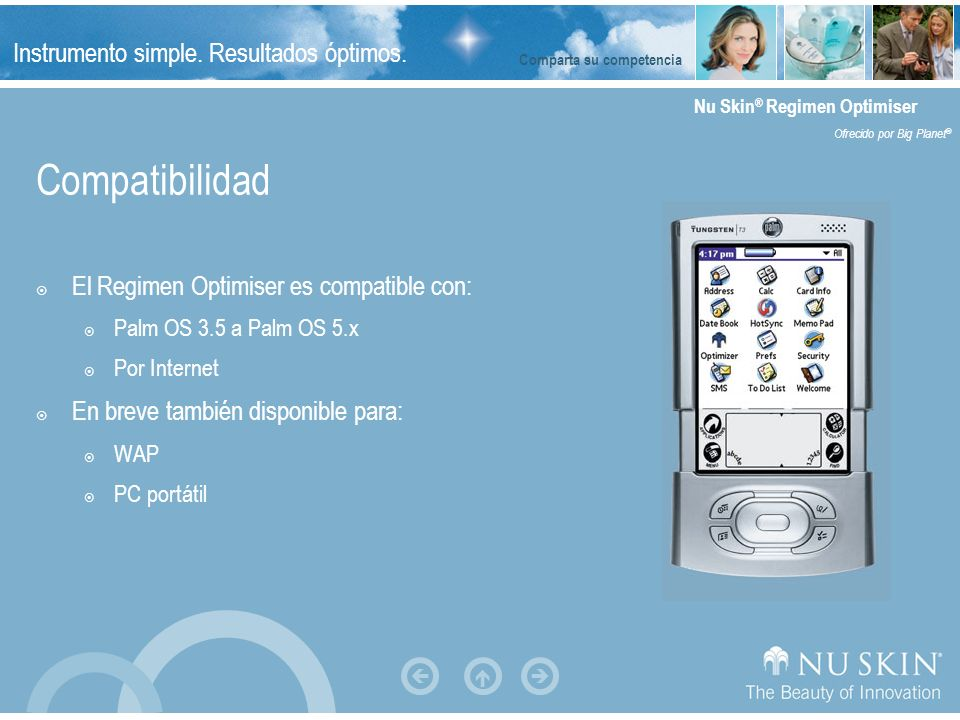 Compatibilidad El Regimen Optimiser es compatible con: