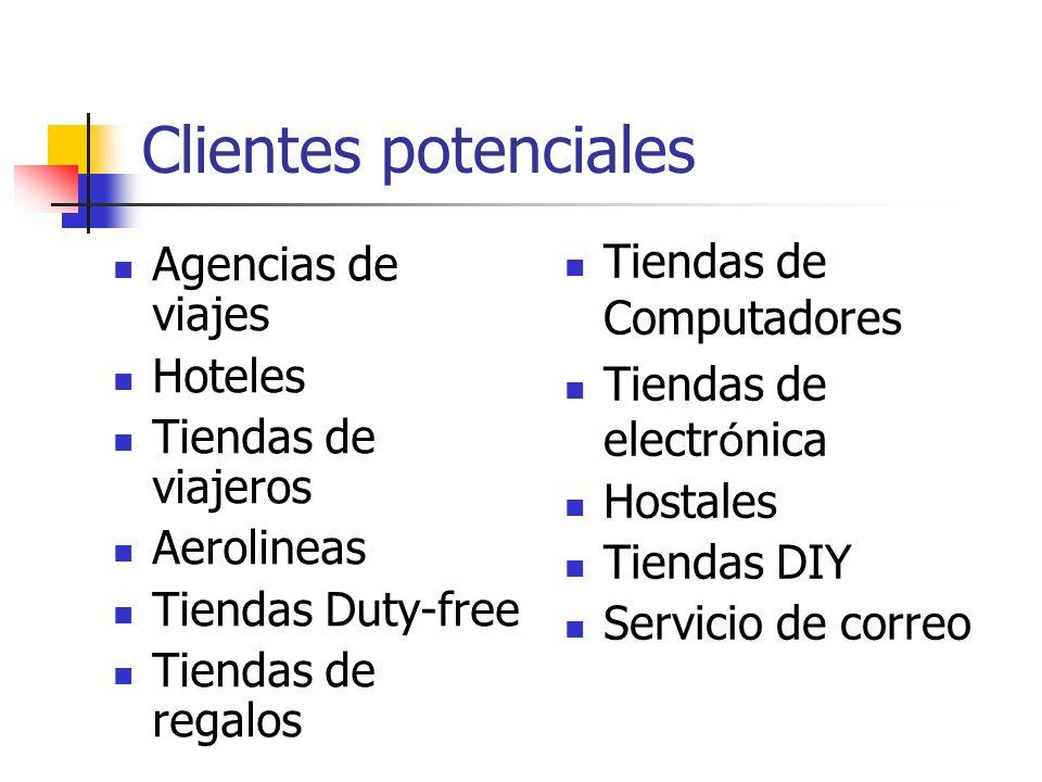 Clientes potenciales Tiendas de Computadores Agencias de viajes