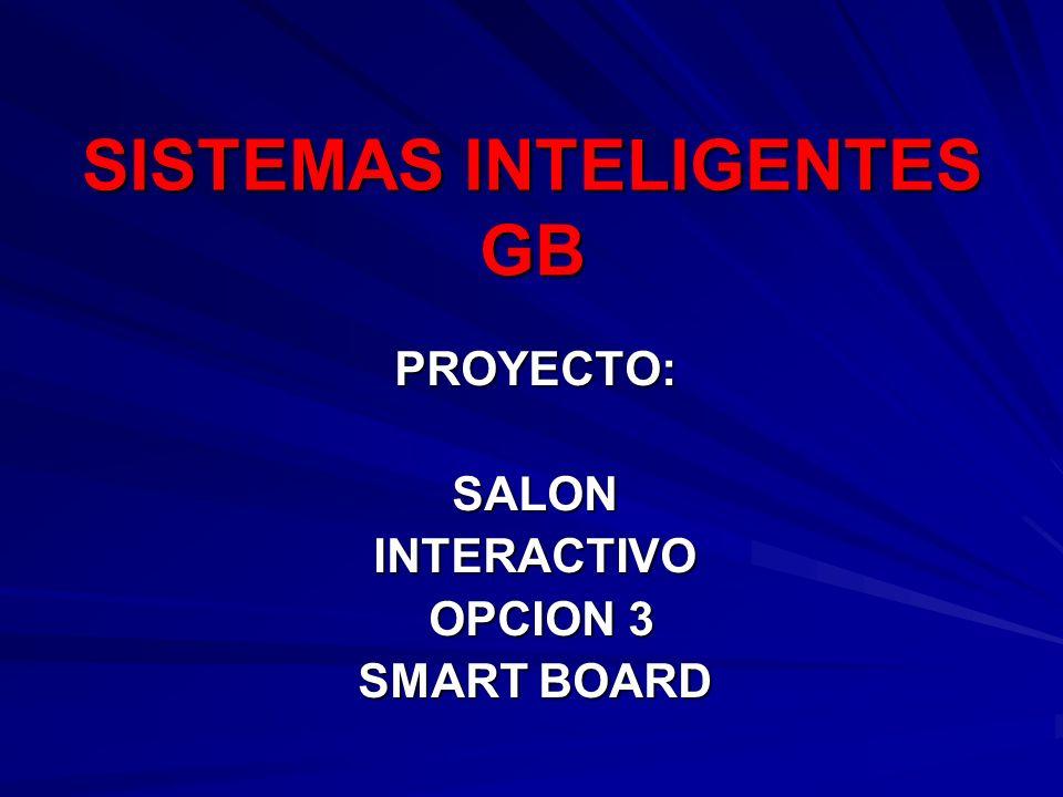 PROYECTO: SALON INTERACTIVO OPCION 3 SMART BOARD