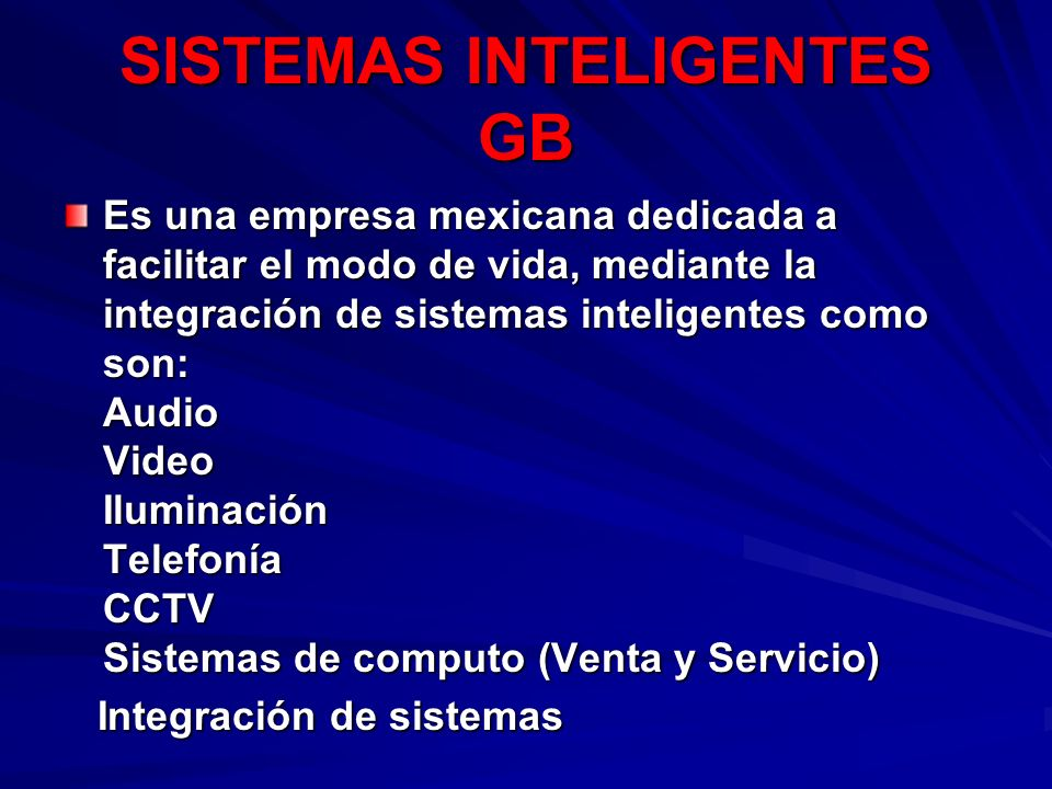 SISTEMAS INTELIGENTES GB