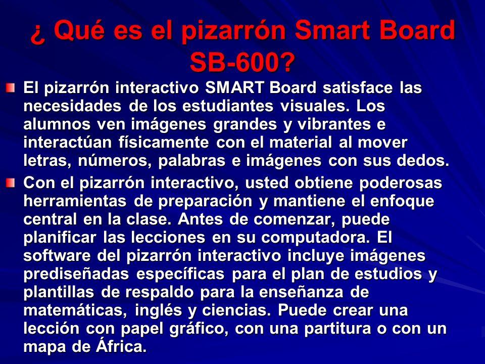 ¿ Qué es el pizarrón Smart Board SB-600