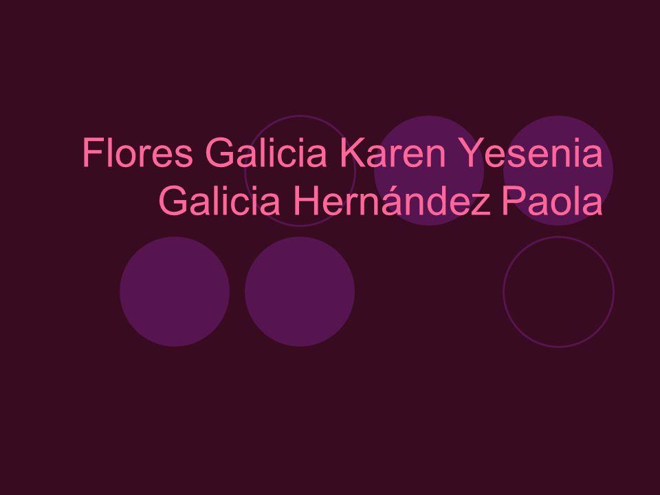 Flores Galicia Karen Yesenia Galicia Hernández Paola