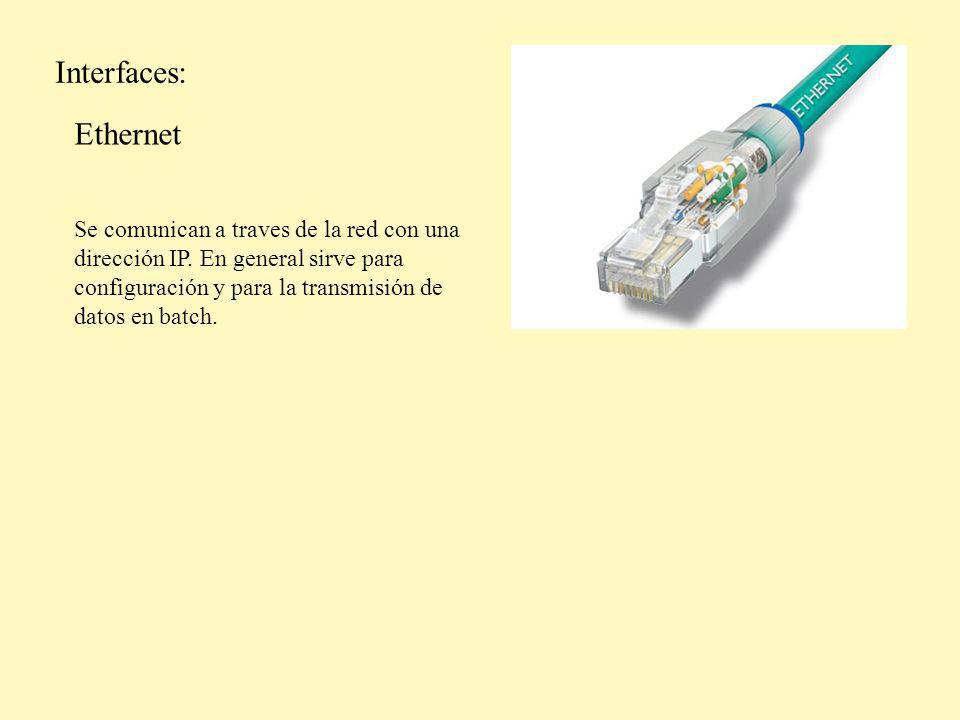 Interfaces: Ethernet.