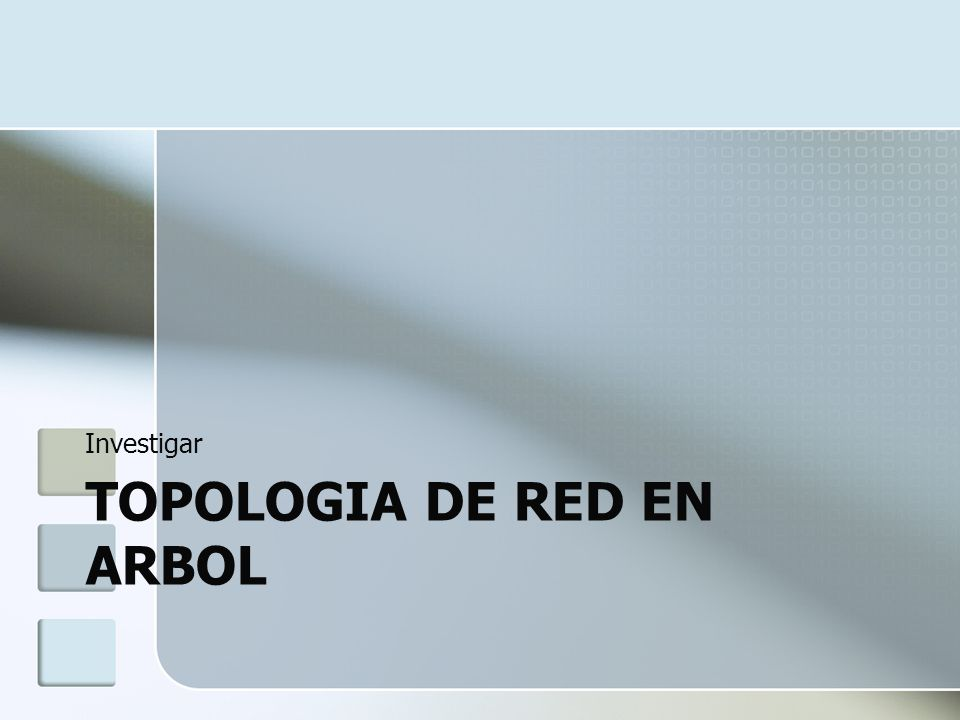 TOPOLOGIA DE RED EN ARBOL