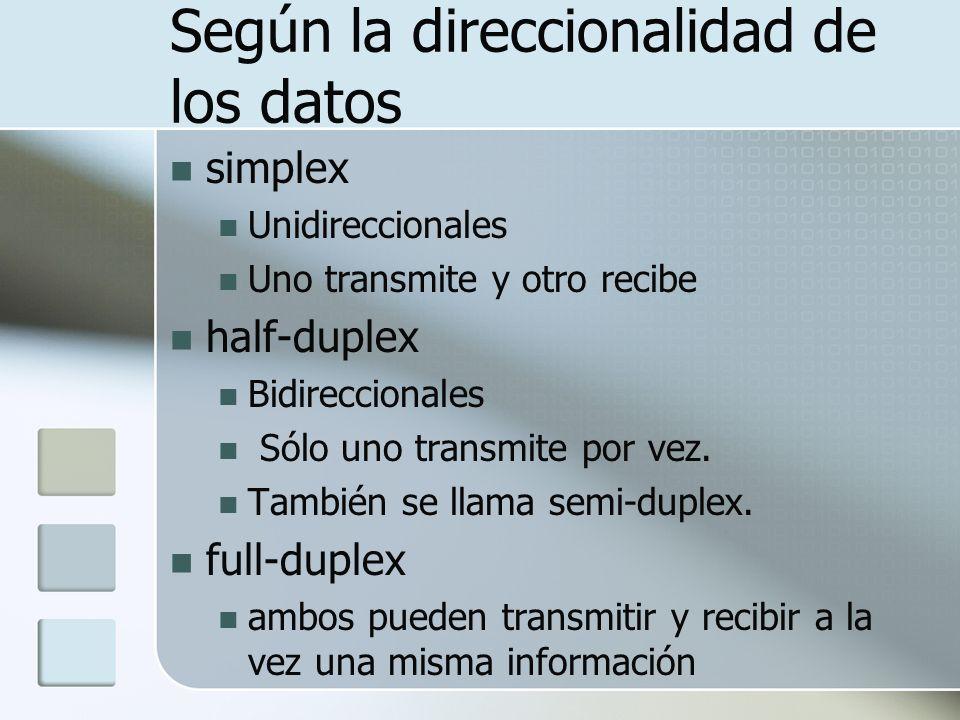 Según la direccionalidad de los datos