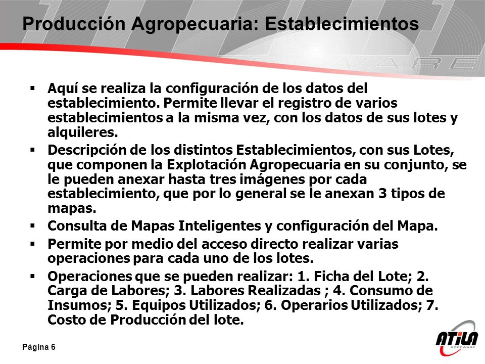 Producción Agropecuaria: Establecimientos