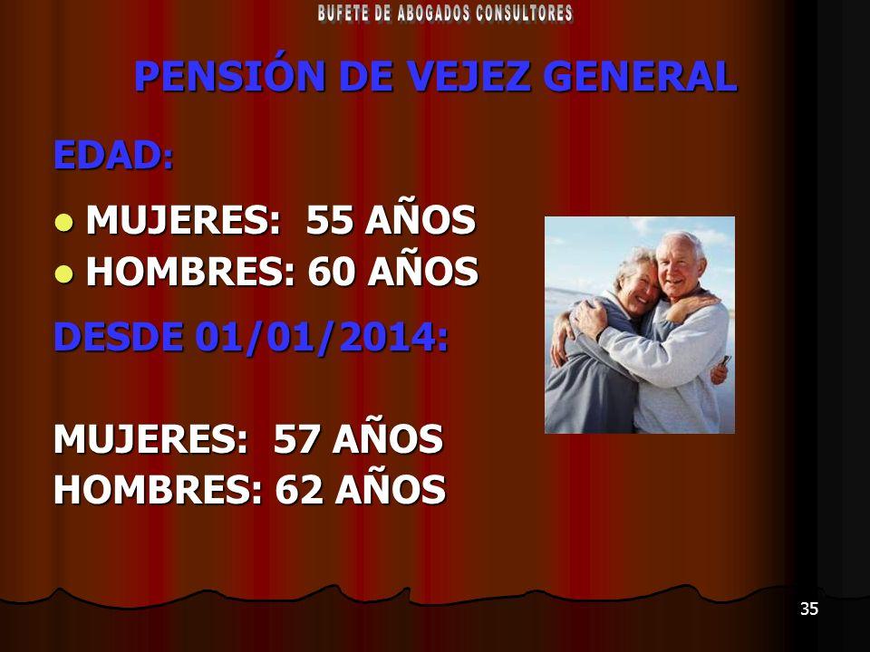 PENSIÓN DE VEJEZ GENERAL