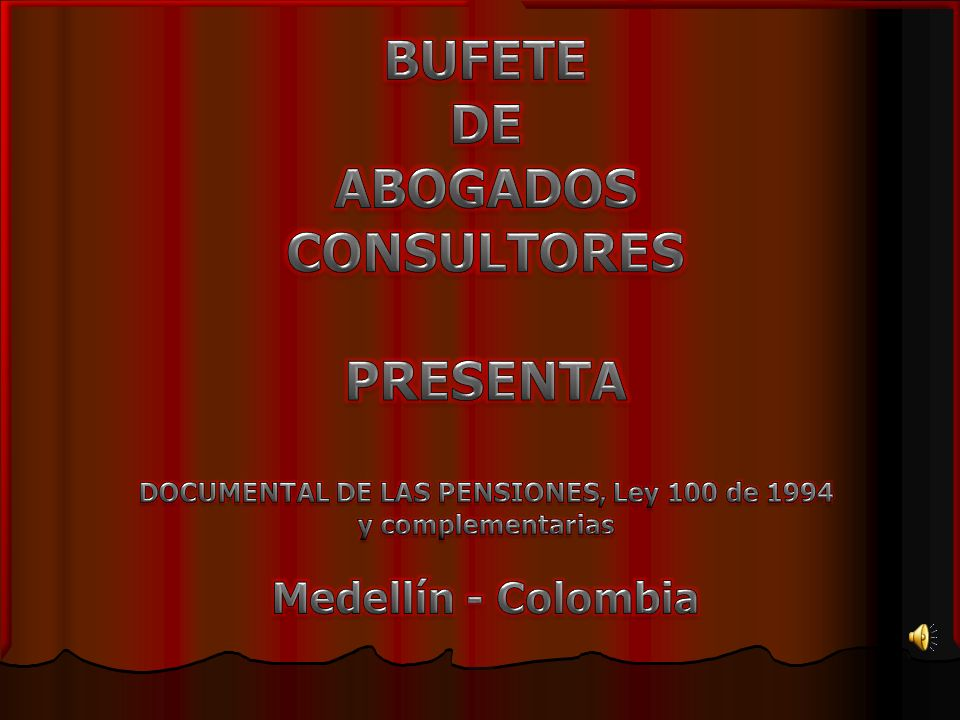 DOCUMENTAL DE LAS PENSIONES, Ley 100 de 1994