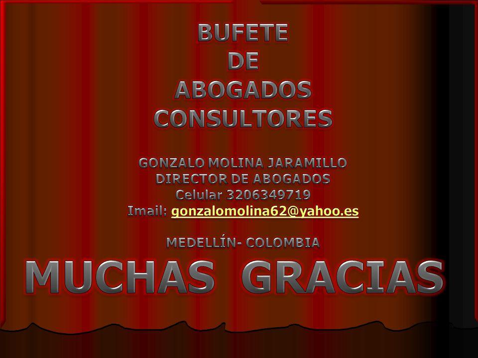 GONZALO MOLINA JARAMILLO Imail: gonzalomolina62@yahoo.es