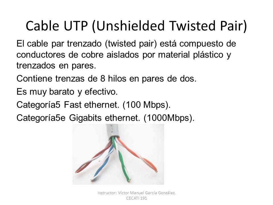 Cable UTP (Unshielded Twisted Pair)