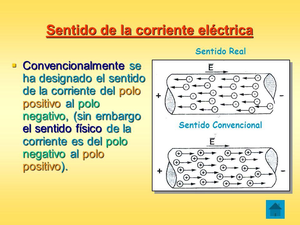 Sentido de la corriente eléctrica