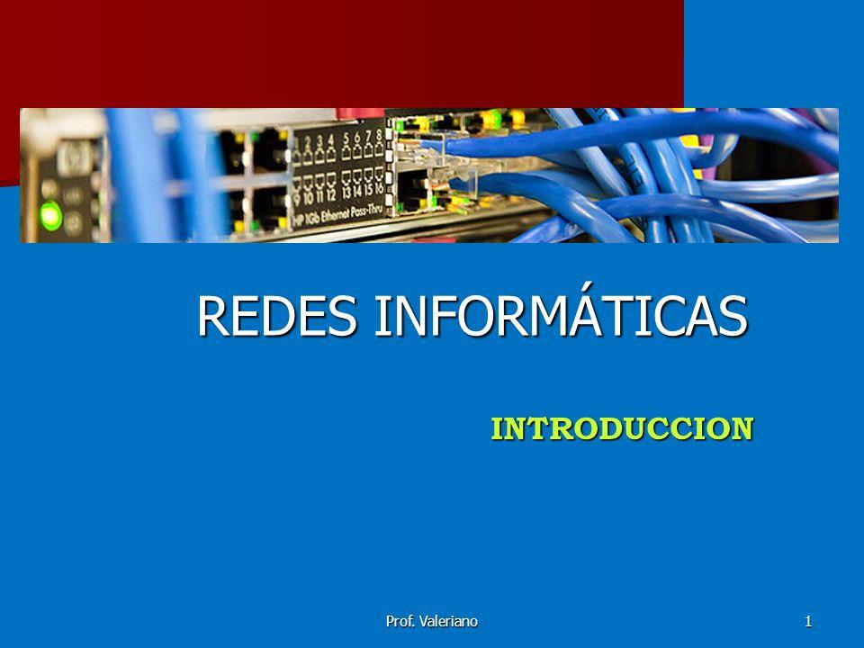 REDES INFORMÁTICAS INTRODUCCION Prof. Valeriano
